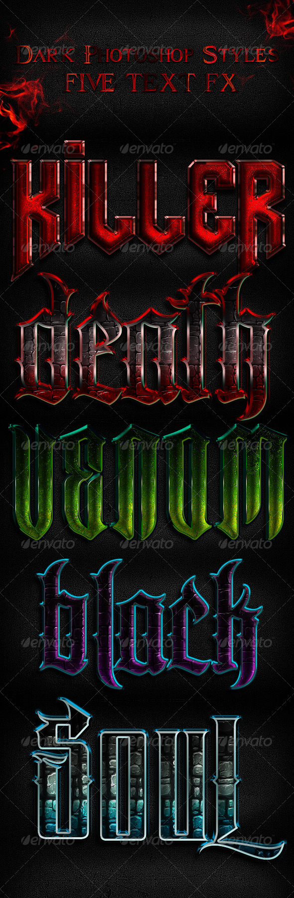 Dark Layer Styles - Text Effects Styles