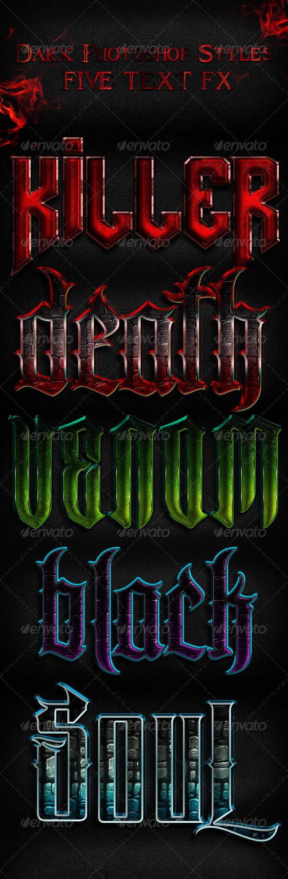 GraphicRiver Dark Layer Styles 6048836