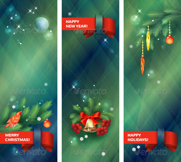 GraphicRiver Vertical Vector Holidays Christmas Banners 6049148