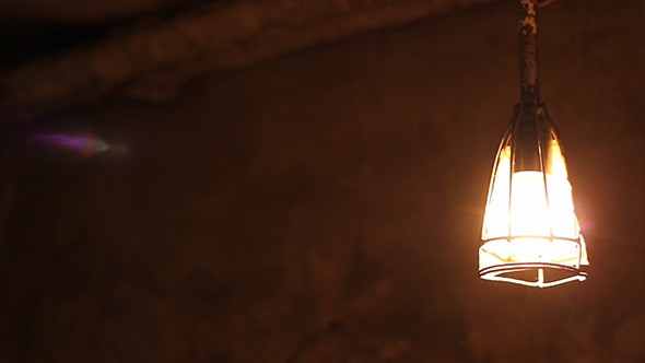 Dark Cellar Lamp Swings