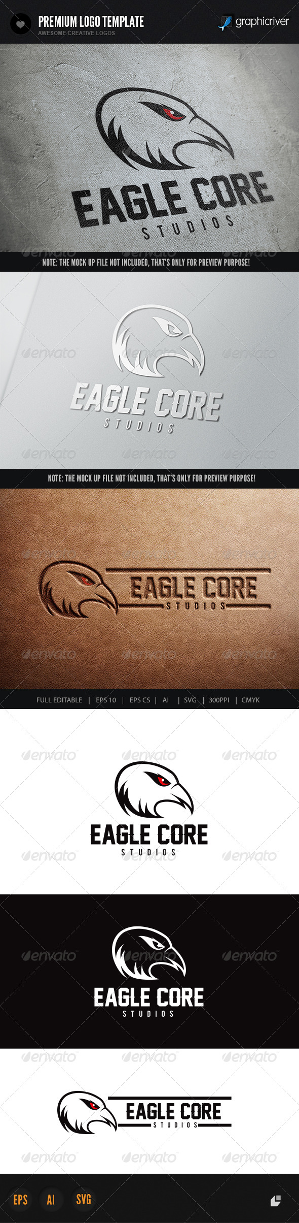 Eagle Core - Crests Logo Templates