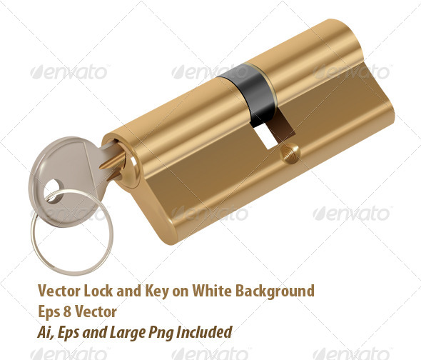 GraphicRiver Lock and Key 6049440