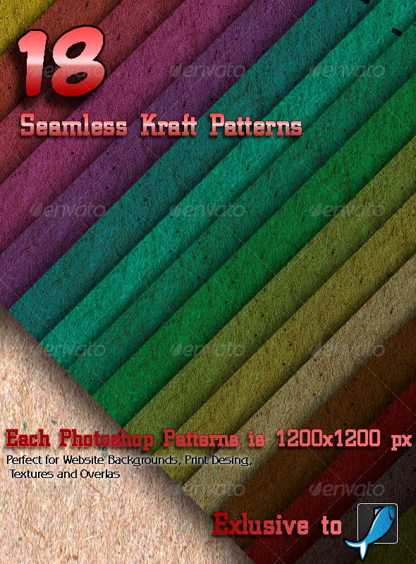GraphicRiver 18 Seamless Kraft Patterns 6049576