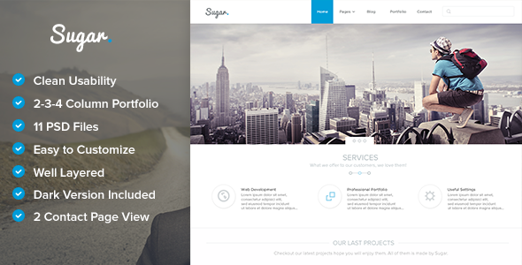ThemeForest Sugar Creative PSD Template 6005504