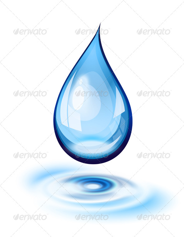 Water Drop Icon - Nature Conceptual