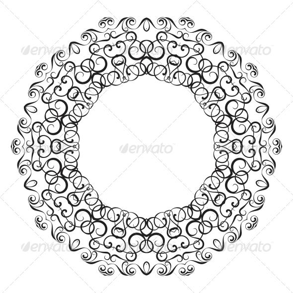 Circullar Border Frame
