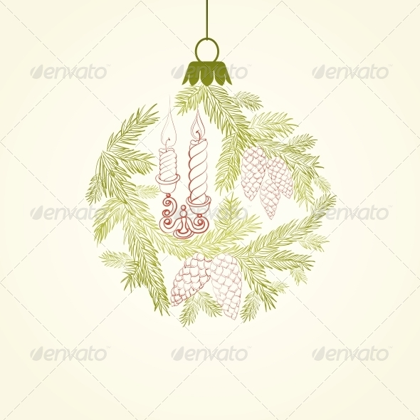 GraphicRiver Christmas Card Design 6049754