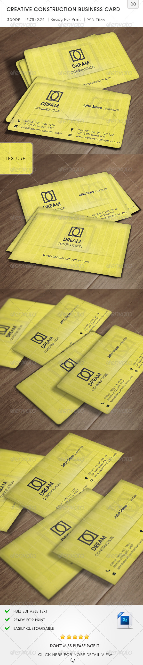 GraphicRiver Creative Construction Business Card v20 6049815