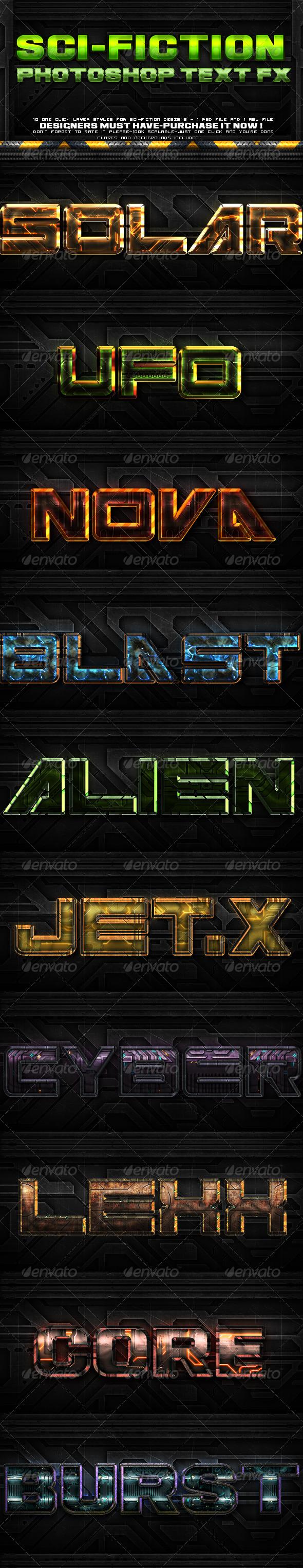 GraphicRiver Sci-fi Layer Styles 6049950