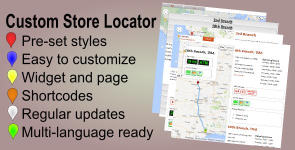 CodeCanyon Custom Store Locator WP Store Finder Plugin 6020557