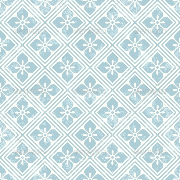 GraphicRiver Geometric Floral Pattern in Retro Style 6050090