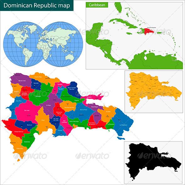 GraphicRiver Dominican Republic Map 6050370