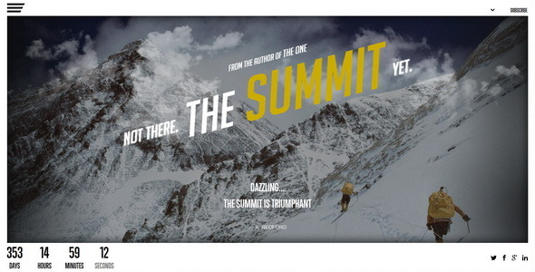 ThemeForest The Summit Responsive Coming Soon Page 6044196