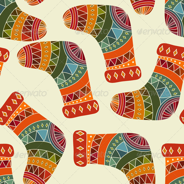 GraphicRiver Vector Seamless Winter Christmas Pattern 6050588