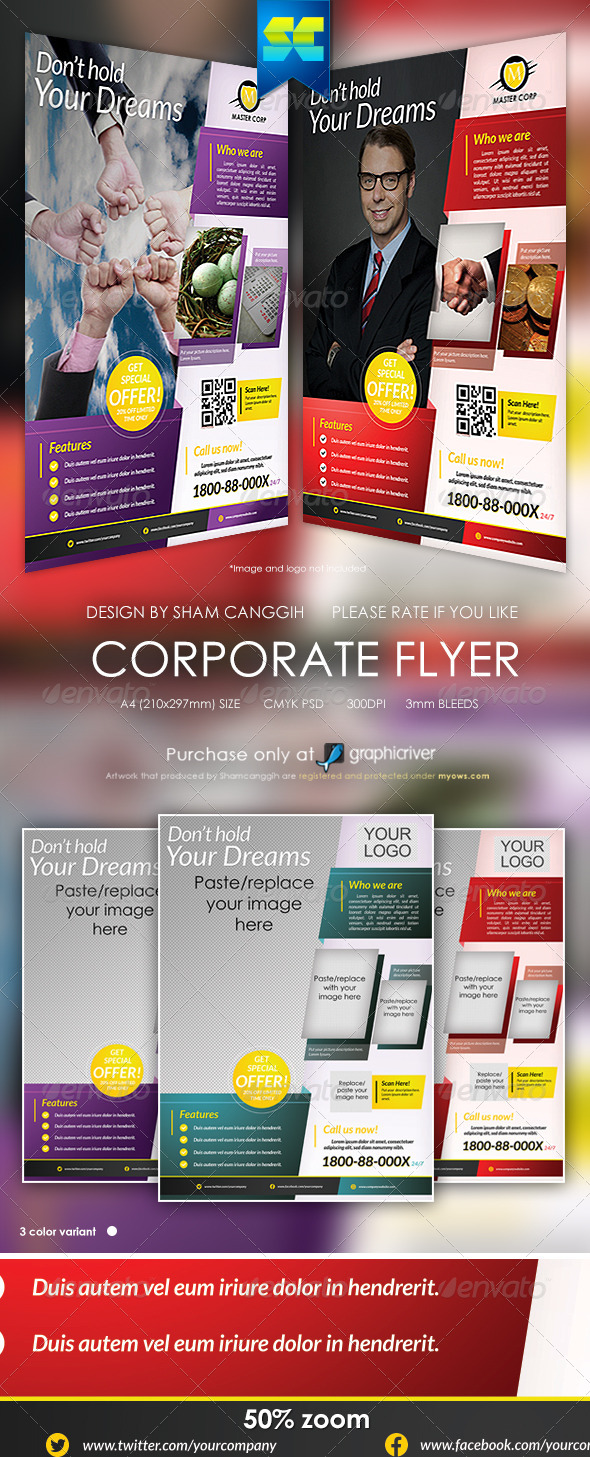 GraphicRiver Modern Corporate Flyer 6050592