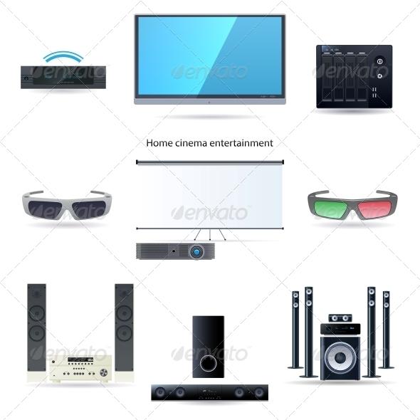 GraphicRiver Home Cinema Entertainment Set 6051118