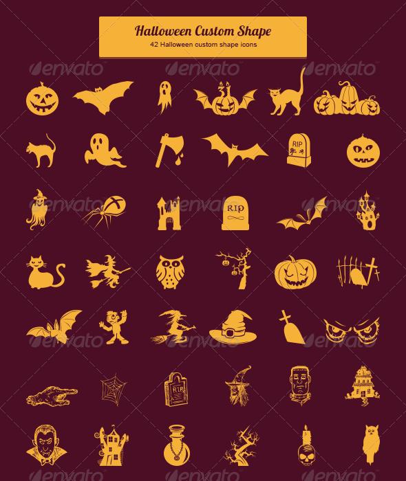 GraphicRiver Halloween Custom Shape 6049565