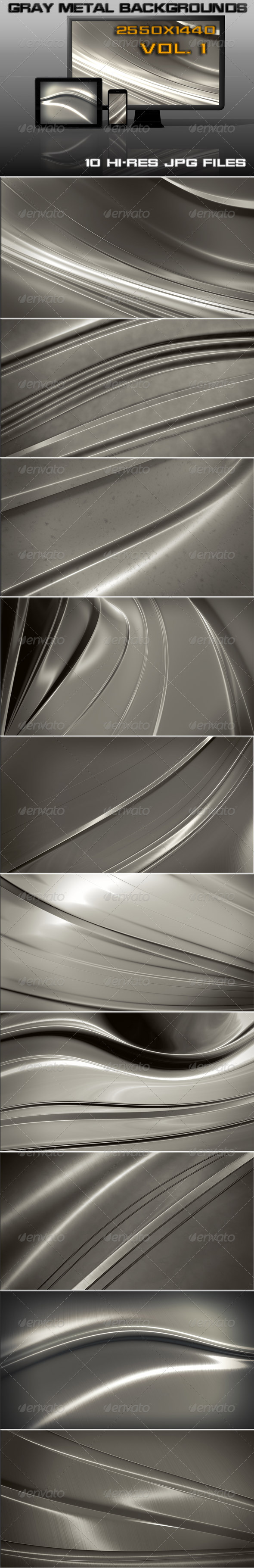 GraphicRiver Gray Steel Background 6051361