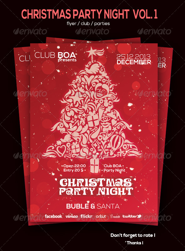 GraphicRiver Christmas Party Night Flyer Volum 1 6018204