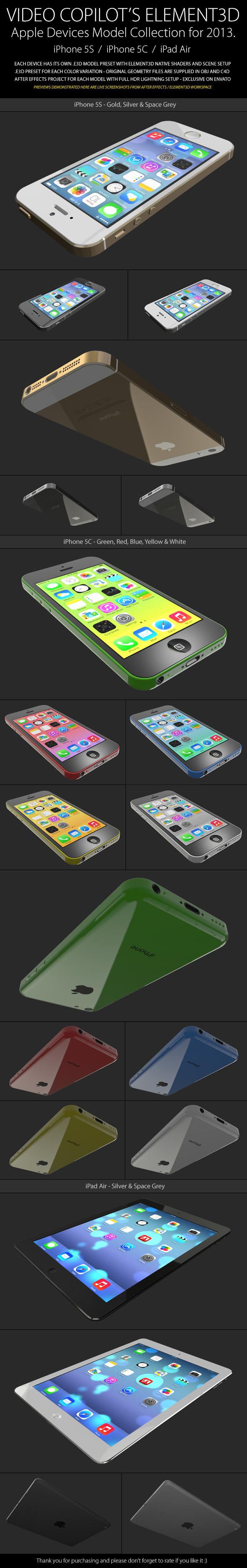 3DOcean Element3D Apple Collection 2013 6051468