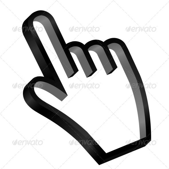 GraphicRiver Mouse Hand Cursor Vector Illustration 6051612
