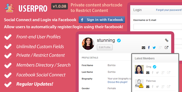 CodeCanyon UserPro User Profiles with Social Login 5958681