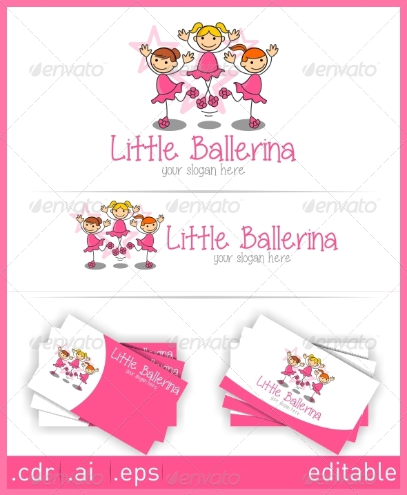 GraphicRiver Little Ballerina Logo 6052014
