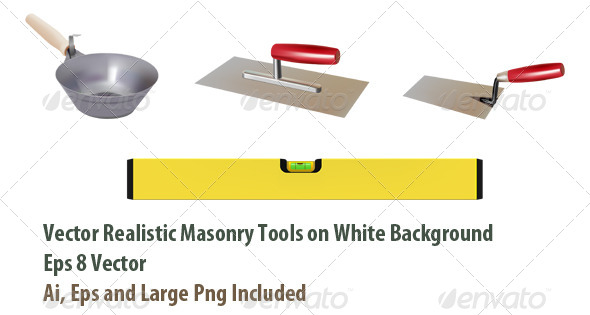 GraphicRiver Masonry Tools 6052134