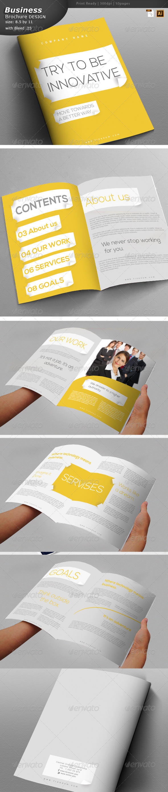 GraphicRiver Business Brochure Design 6052271