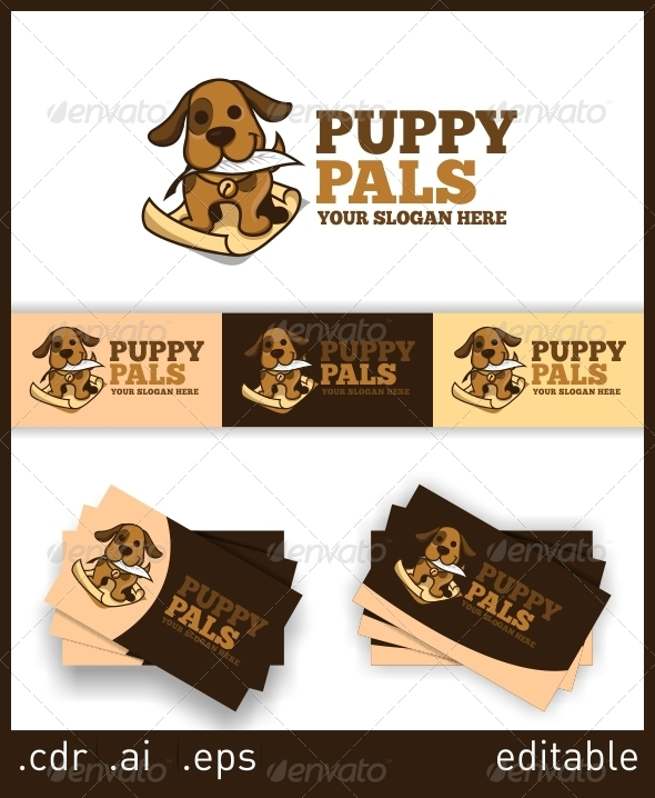 GraphicRiver Puppy Pals Logo 6052295