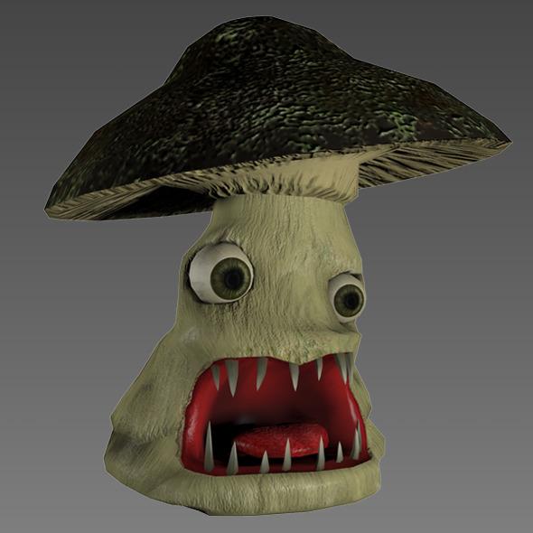 3DOcean Mushroom Monster Low-Poly Monster 6052388