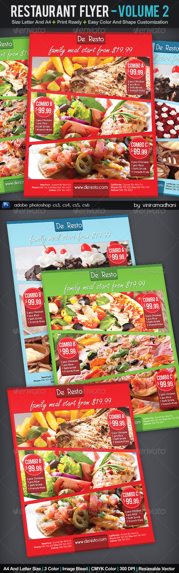 GraphicRiver Restaurant Flyer Volume 2 6047764