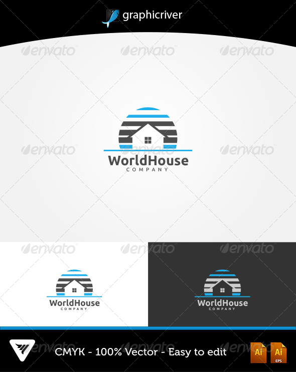 GraphicRiver World House Logo 6052597