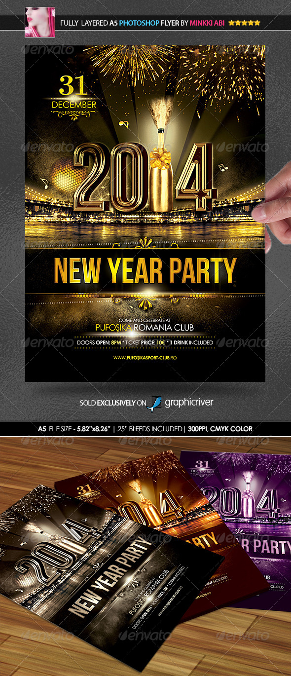 GraphicRiver New Year Party Poster Flyer 6052599