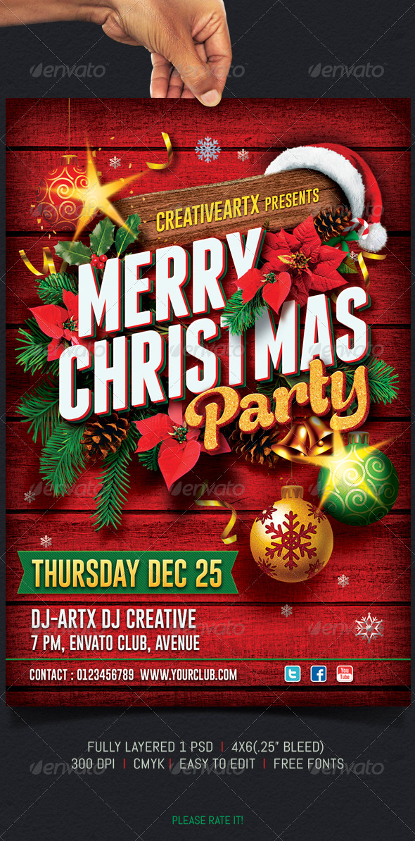 GraphicRiver Christmas Party Flyer 6053479