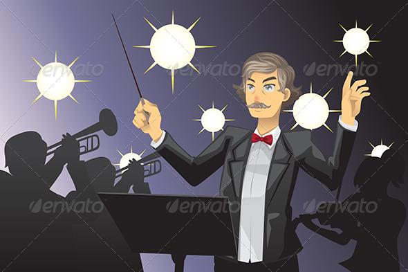 GraphicRiver Orchestra Conductor 6053595