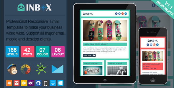 Inbox - Responsive Email Template - Newsletters Email Templates
