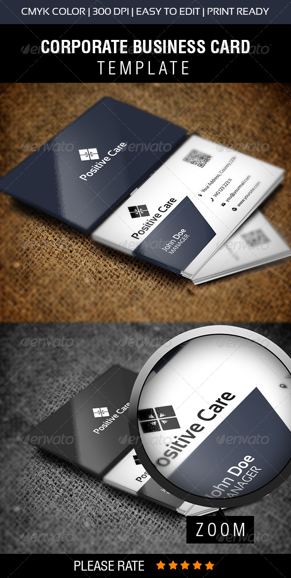 GraphicRiver Positive Care Business Card 6053745
