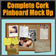 Complete Cork Pinboard Mock Up - GraphicRiver Item for Sale