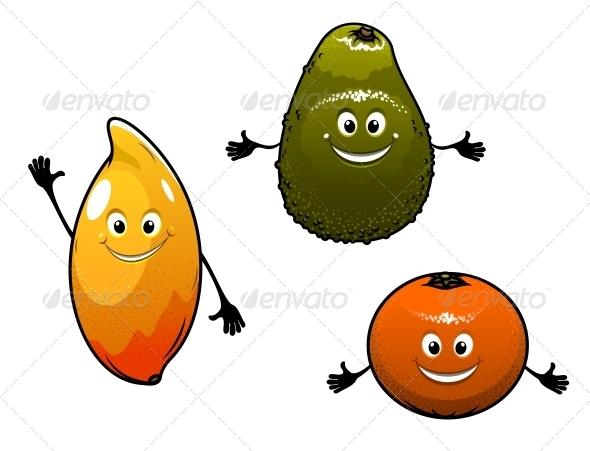 Avocado Mango and Orange