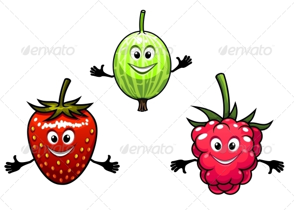 GraphicRiver Gooseberry Raspberry and Strawberry 6053781