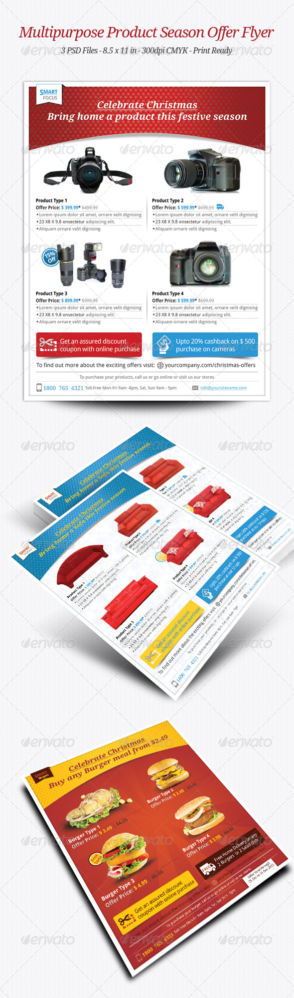 GraphicRiver Multipurpose Product Season Offer Flyer 6053790