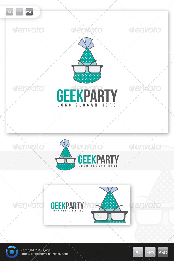 GraphicRiver Geek Party Logo 6053792