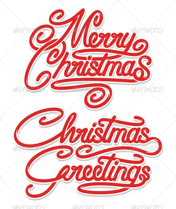 GraphicRiver Merry Christmas Calligraphic Text 6053841