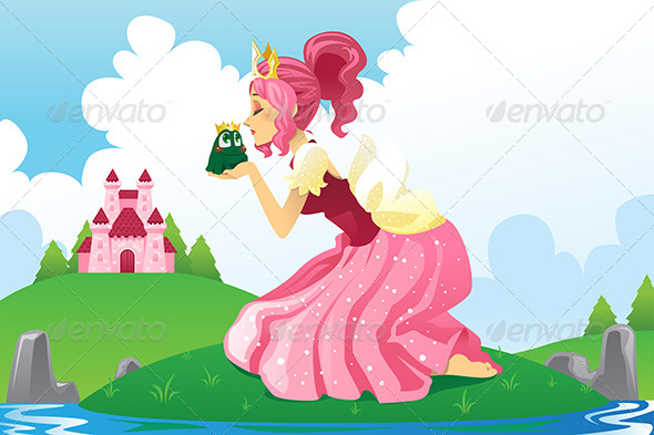 GraphicRiver Princess Kissing a Frog 6053994