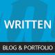 Written - Minimal Blog & Portfolio WordPress Theme
