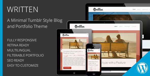 ThemeForest Written Minimal Blog & Portfolio WordPress Theme 6000028