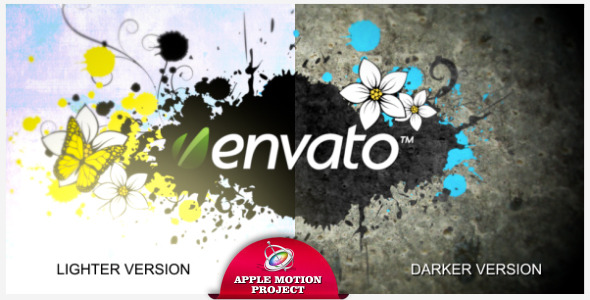 Paint Splats Logo Reveal Apple Motion