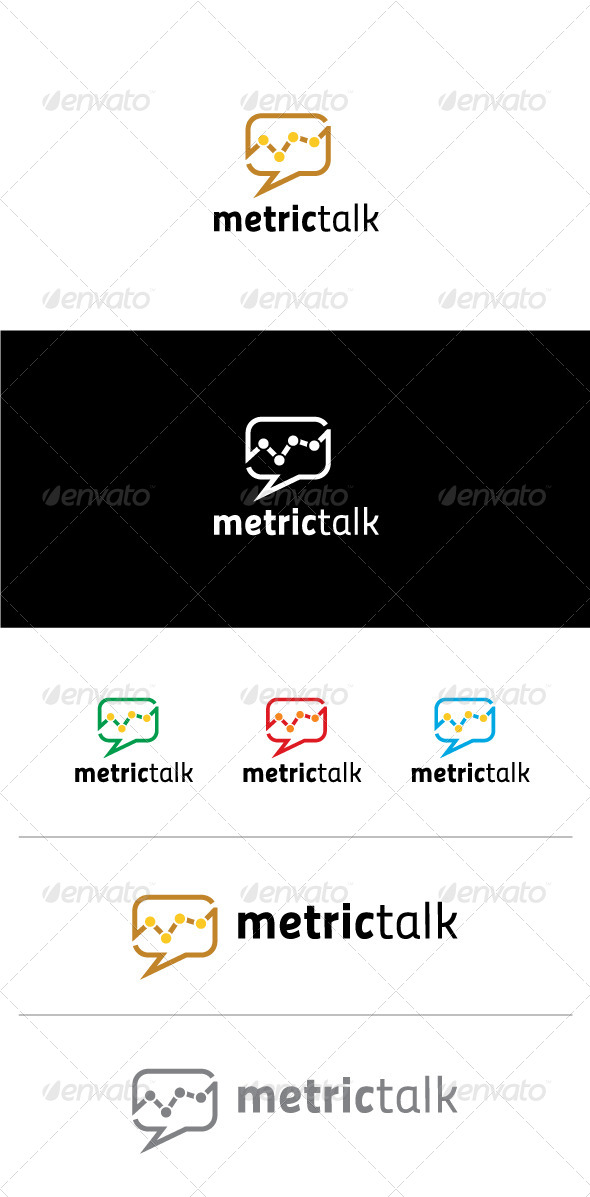 GraphicRiver Metric Talk Logo Template 6054169