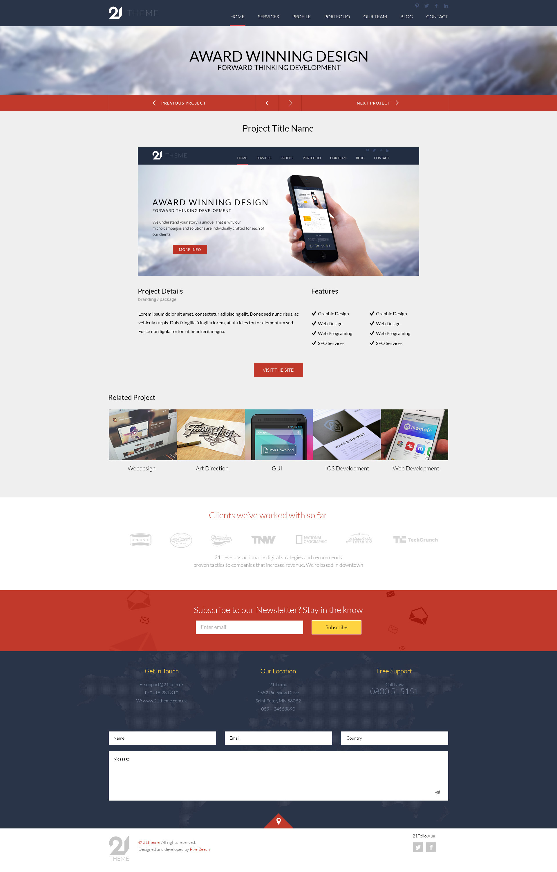 21-Theme Multipurpose PSD